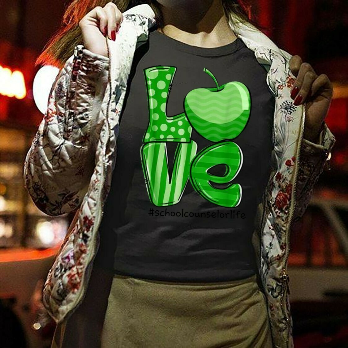 LOVE School Counselor Life St Patrick's Day Activities gift for Teachers class room T-Shirt Hoodie Sweatshirt Sweater Tee Kids Youth Gifts Jolly Family Gifts