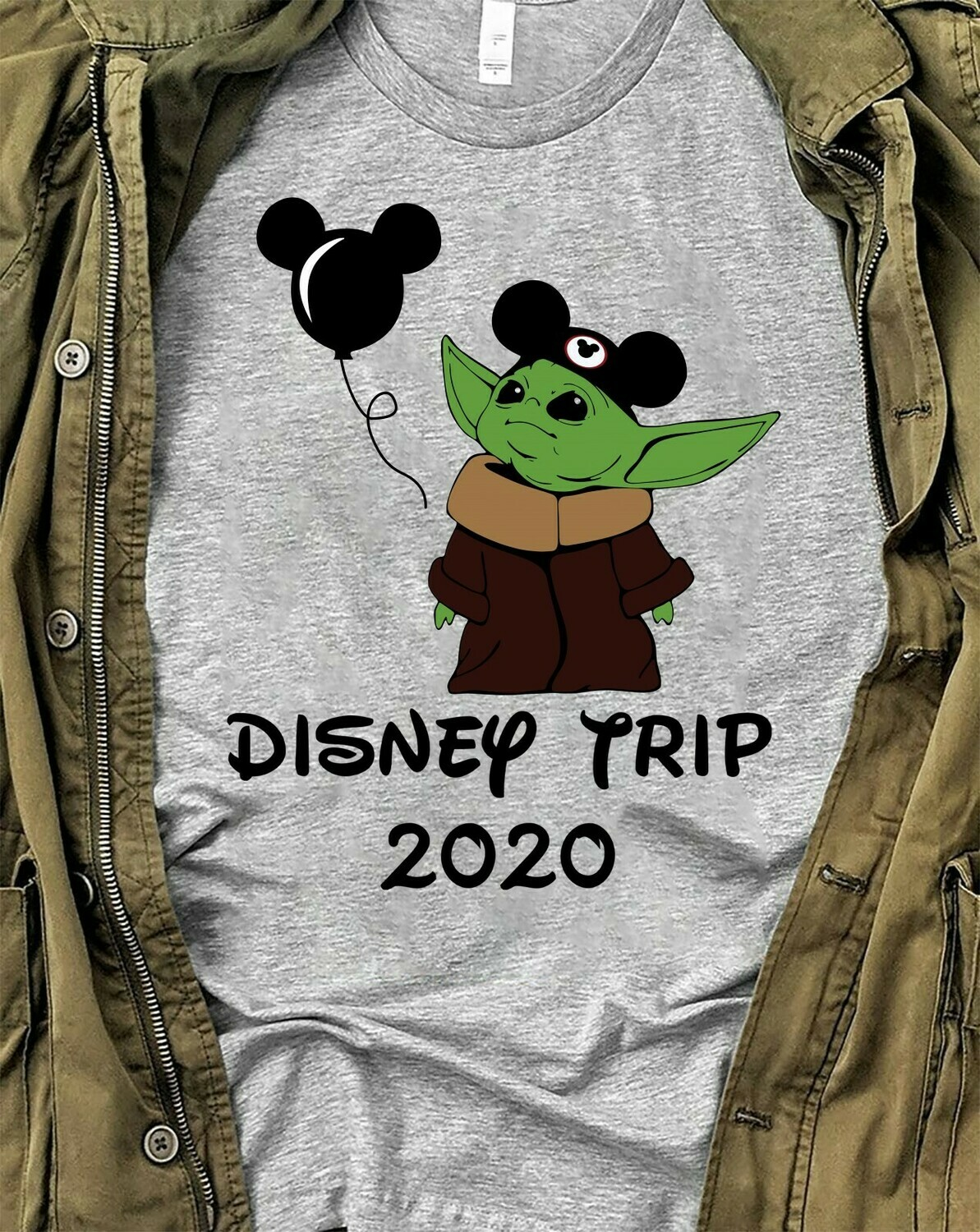Disney Trip 2020 Baby Yoda Mickey Disney The Mandalorian With Death Star Wars Movie Walt Disney Vacation Family Go to Disney World  T-Shirt Hoodie Sweatshirt Sweater Tee Kids Youth Gifts Jolly Family