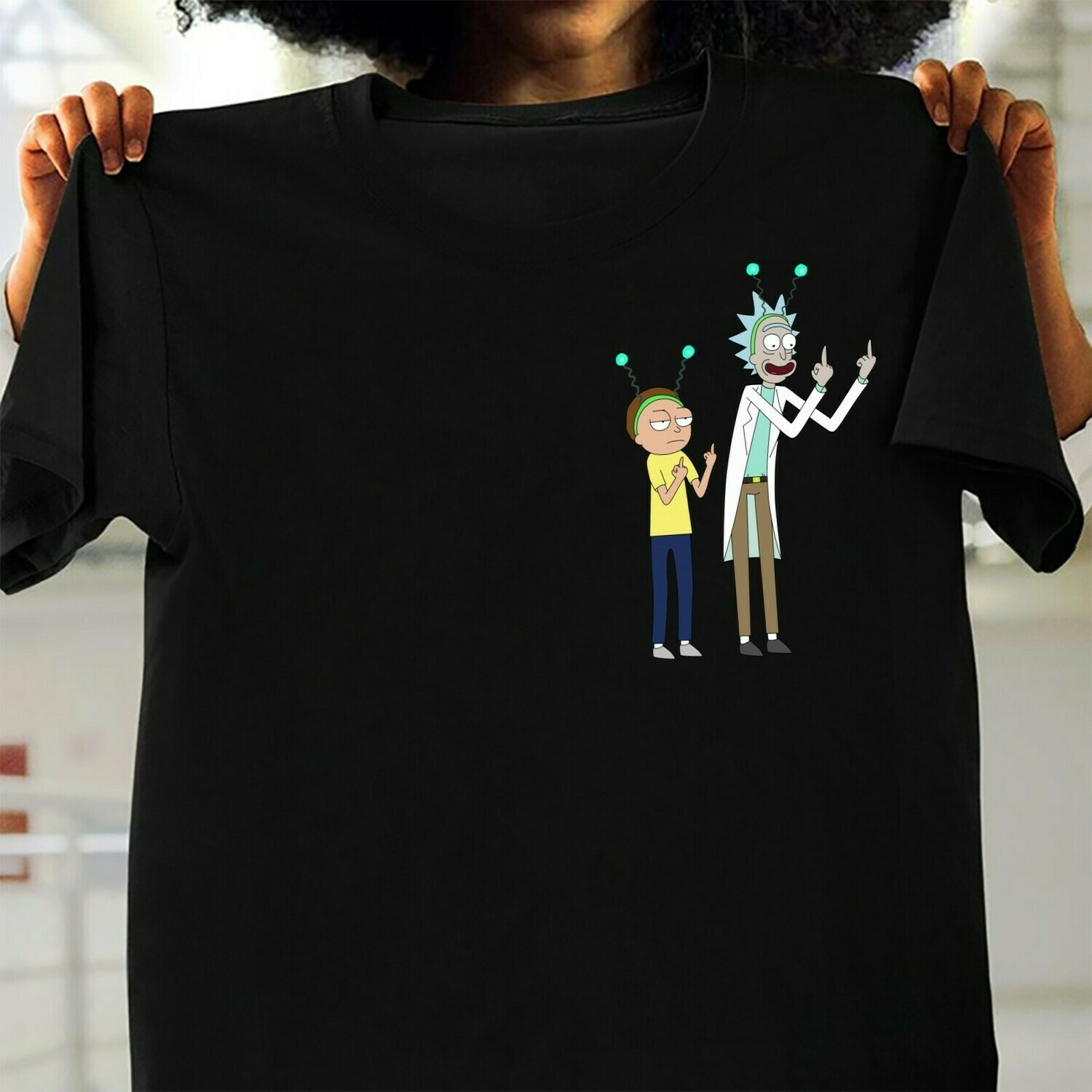 Rick And Morty American adult animated science fiction sitcom movie Flip The Bird Rick And Morty Boobs for Retro  T-Shirt Hoodie Sweatshirt Sweater Tee Kids Youth Gifts Jolly Family Gifts