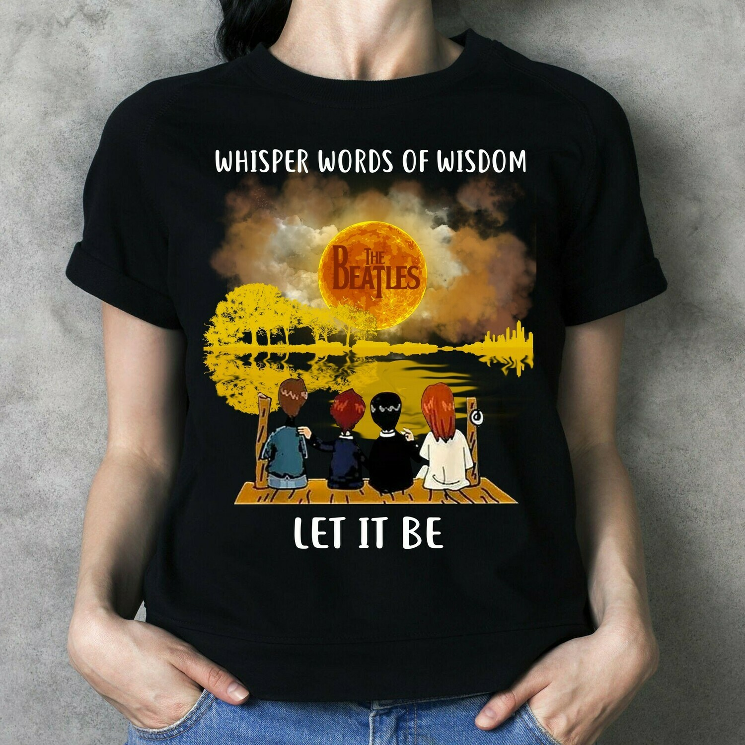 Whisper word of wisdom let it be The beatles 60th anniversary 1960 - 2020 thank you for the memories Classic Rock Band Legend Fan  T-Shirt Hoodie Sweatshirt Sweater Tee Kids Youth Gifts Jolly Family