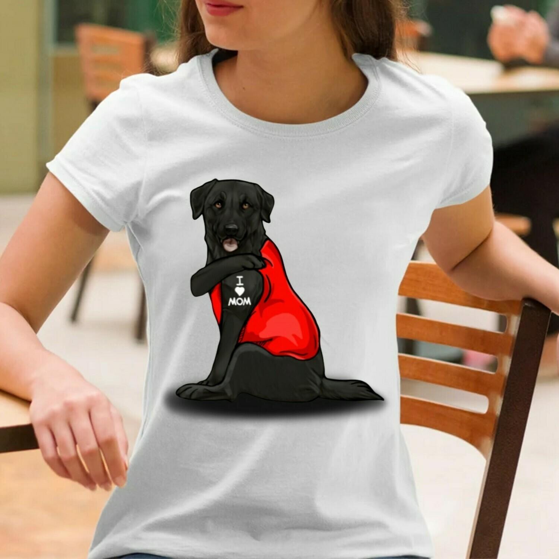 Labrador Retriever Dog Tattoos I Love Mom Funny Shirt T-Shirt Hoodie Sweatshirt Sweater Tee Kids Youth Gifts Jolly Family Gifts