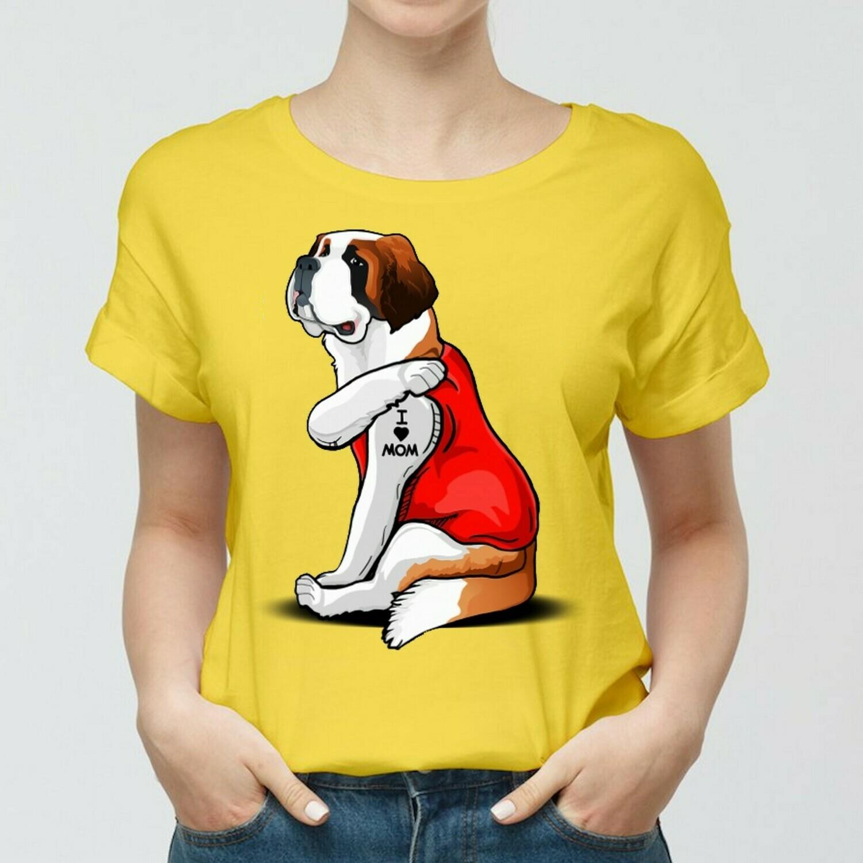St Bernard Dog Tattoos I Love Mom Funny Shirt T-Shirt Hoodie Sweatshirt Sweater Tee Kids Youth Gifts Jolly Family Gifts