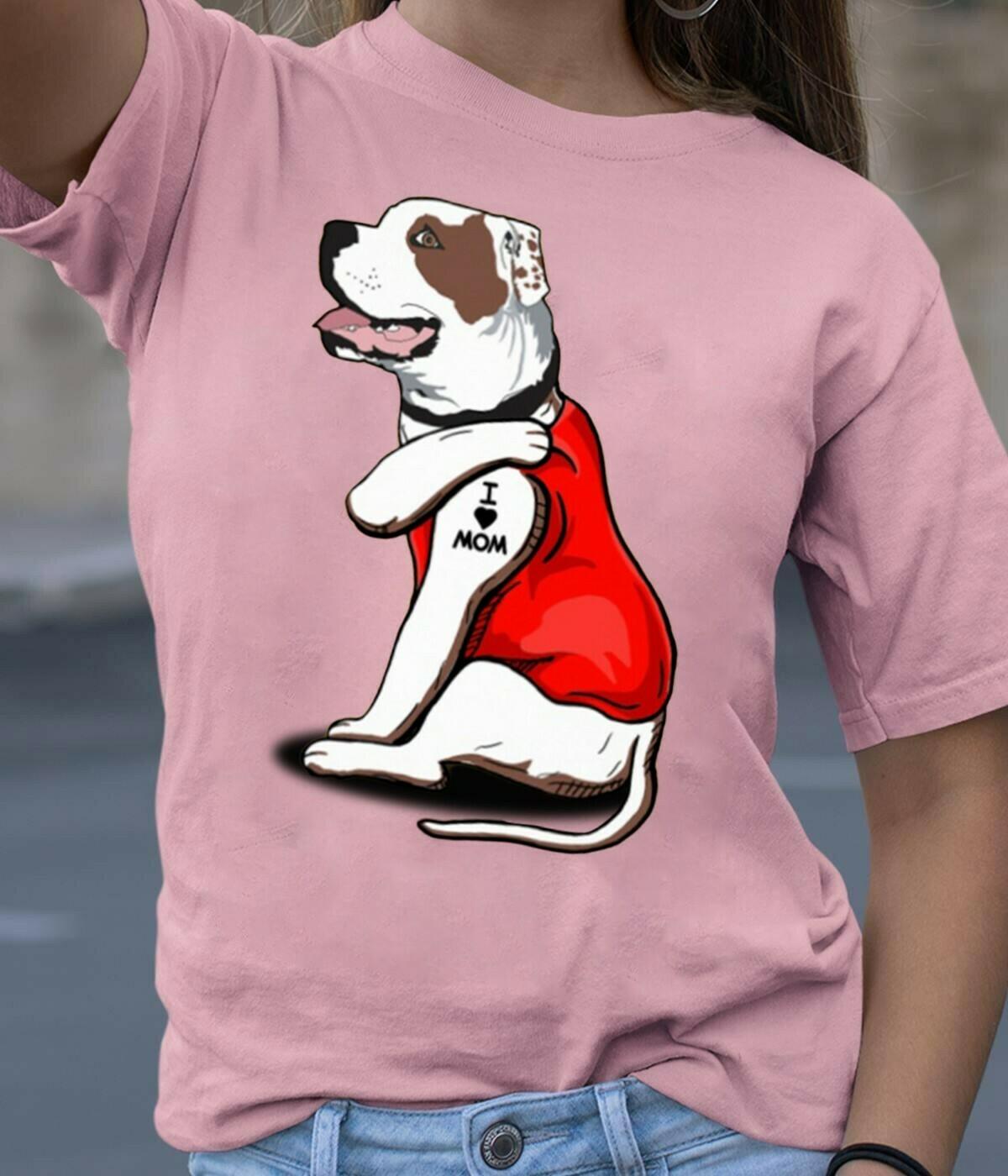 Bulldog Dog Tattoos I Love Mom Funny Shirt T-Shirt Hoodie Sweatshirt Sweater Tee Kids Youth Gifts Jolly Family Gifts