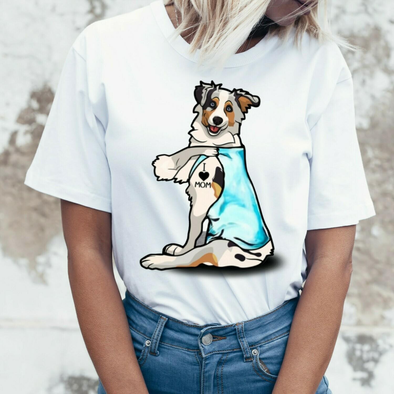 Shar Pei Dog Tattoos I Love Mom Funny Shirt T-Shirt Hoodie Sweatshirt Sweater Tee Kids Youth Gifts Jolly Family Gifts