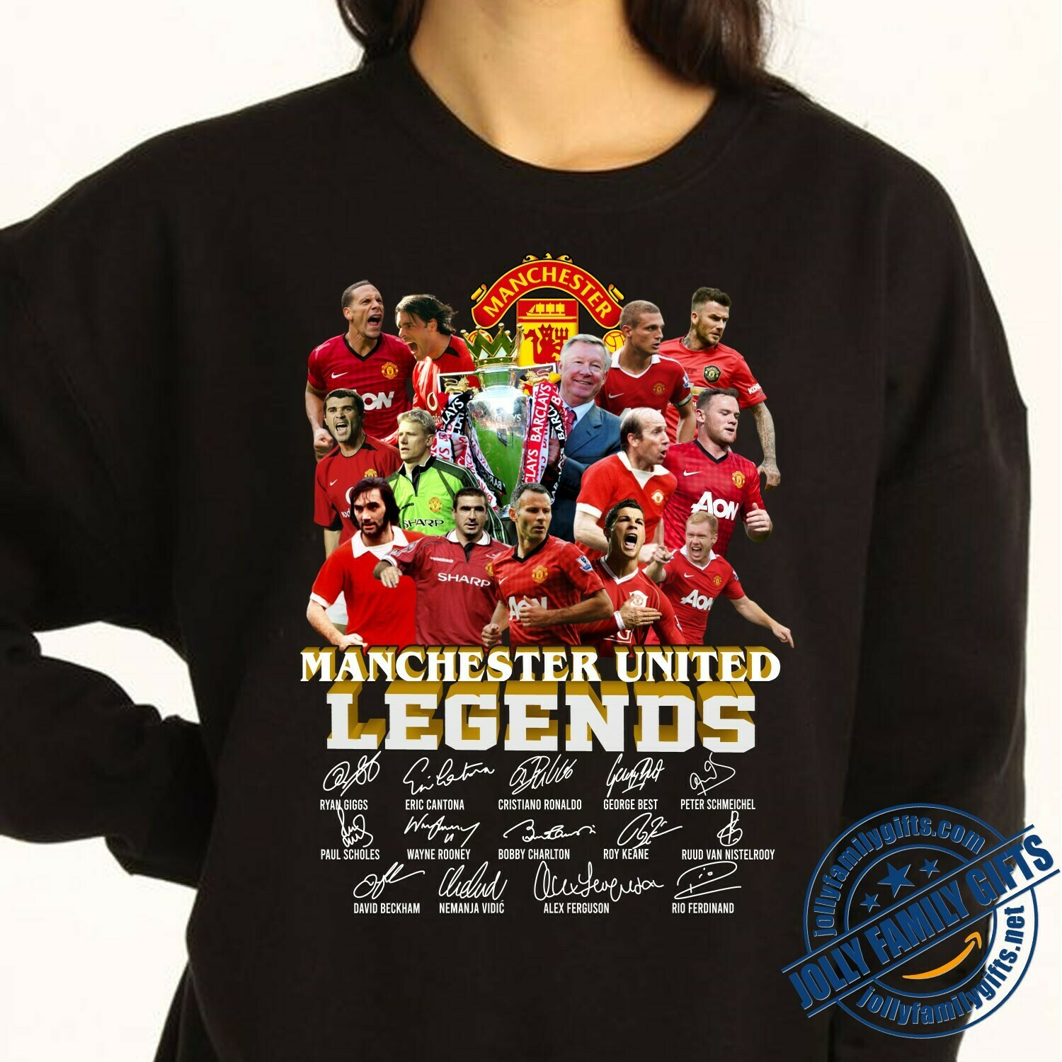 MU FC Manchester United Legends 1878-2020 Thank you for the memories Team Players Signatures  T-Shirt Hoodie Sweatshirt Sweater Tee Kids Youth Gifts Jolly Family Gifts