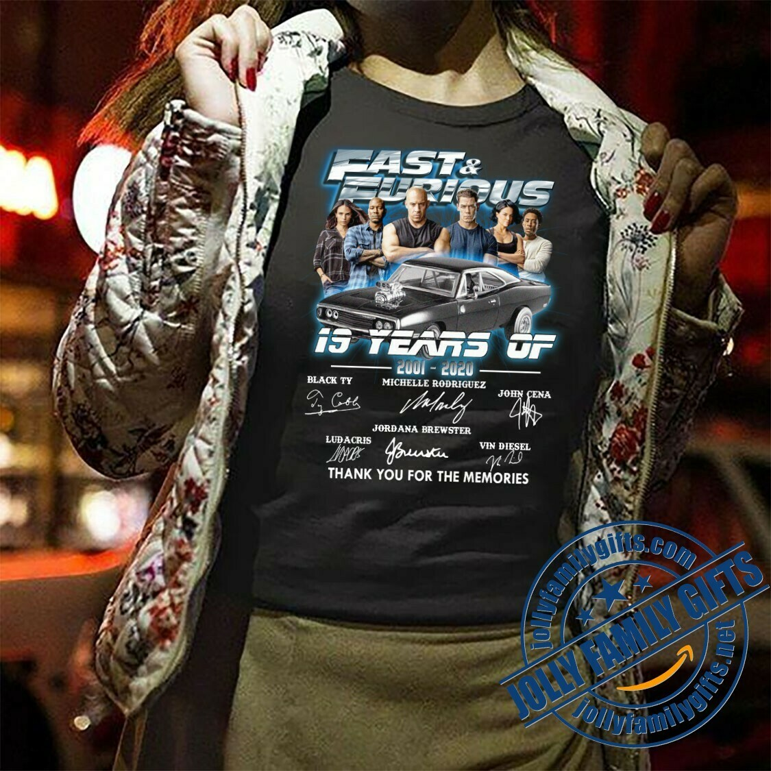 19 Years of Fast and Furious 2001 2020 Movies Signature Thank You For The Memories Awesome Gift for F&F Action Fans Love  T-Shirt Hoodie Sweatshirt Sweater Tee Kids Youth Gifts Jolly Family Gifts