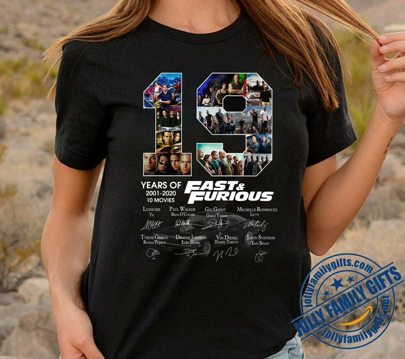 19 Years of Fast and Furious 2001 2020 10 Movies Signature Thank You For The Memories Awesome Gift for F&F Fans Action Movies Lovers  T-Shirt Hoodie Sweatshirt Sweater Tee Kids Youth Gifts Jolly