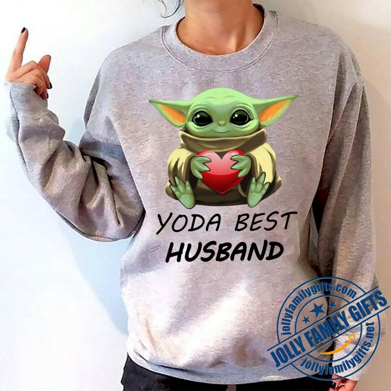 Baby Yoda The Mandalorian with death Star Wars Movie Yoda Best Husband,Yoda Hug Heart Valentines Gift for her him girlfriend Unisex T-Shirt Hoodie Sweatshirt Sweater for Ladies Women Men Kids Youth