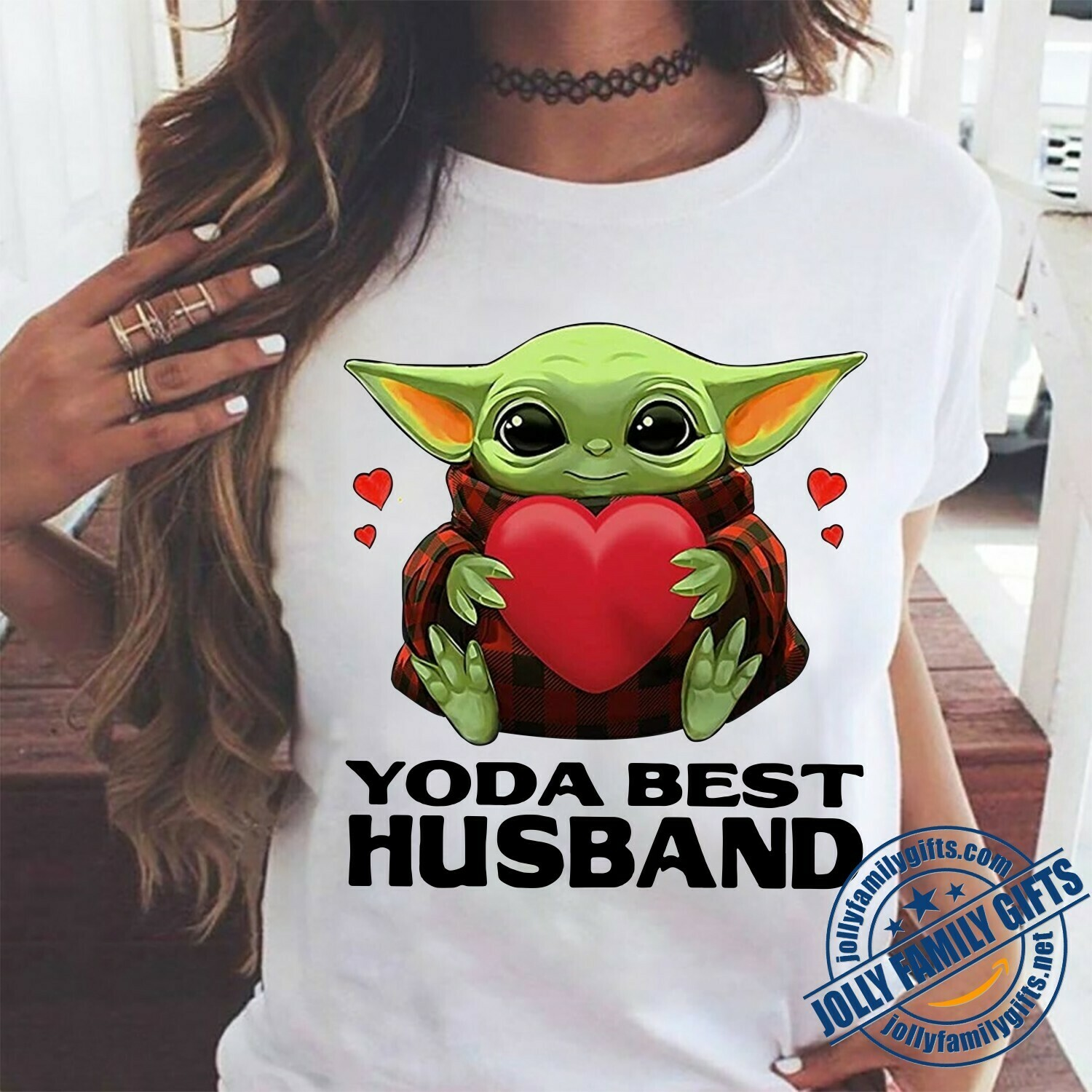 Baby Yoda The Mandalorian with death Star Wars Movie Yoda best Husband,Yoda Hug Heart Valentines Gift for him dady father Unisex T-Shirt Hoodie Sweatshirt Sweater for Ladies Women Men Kids Youth Gifts