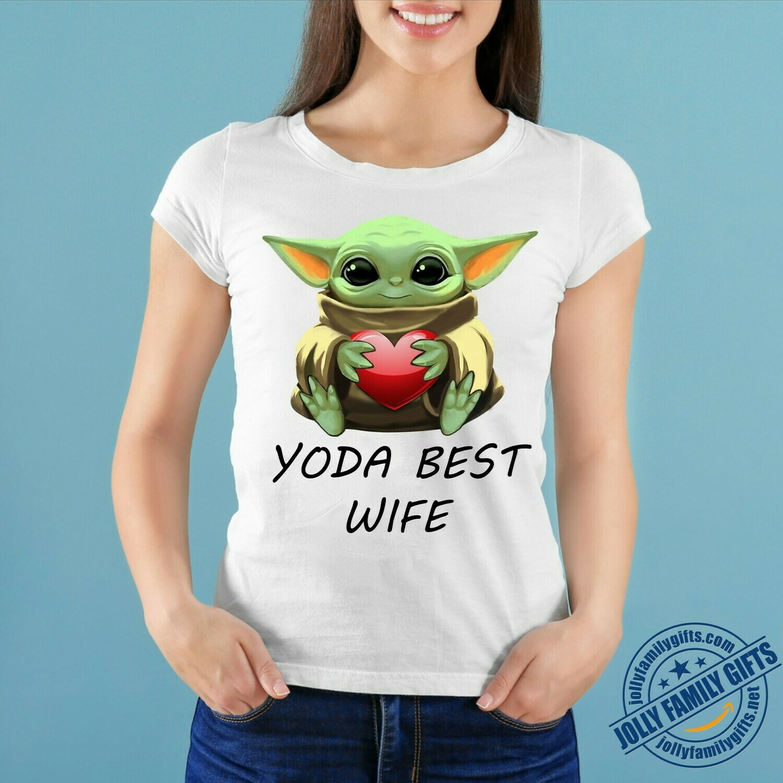 Baby Yoda The Mandalorian with death Star Wars Movie Yoda Best Wife,Yoda Hug Heart Valentines Gift for her him girlfriend Unisex T-Shirt Hoodie Sweatshirt Sweater for Ladies Women Men Kids Youth Gifts