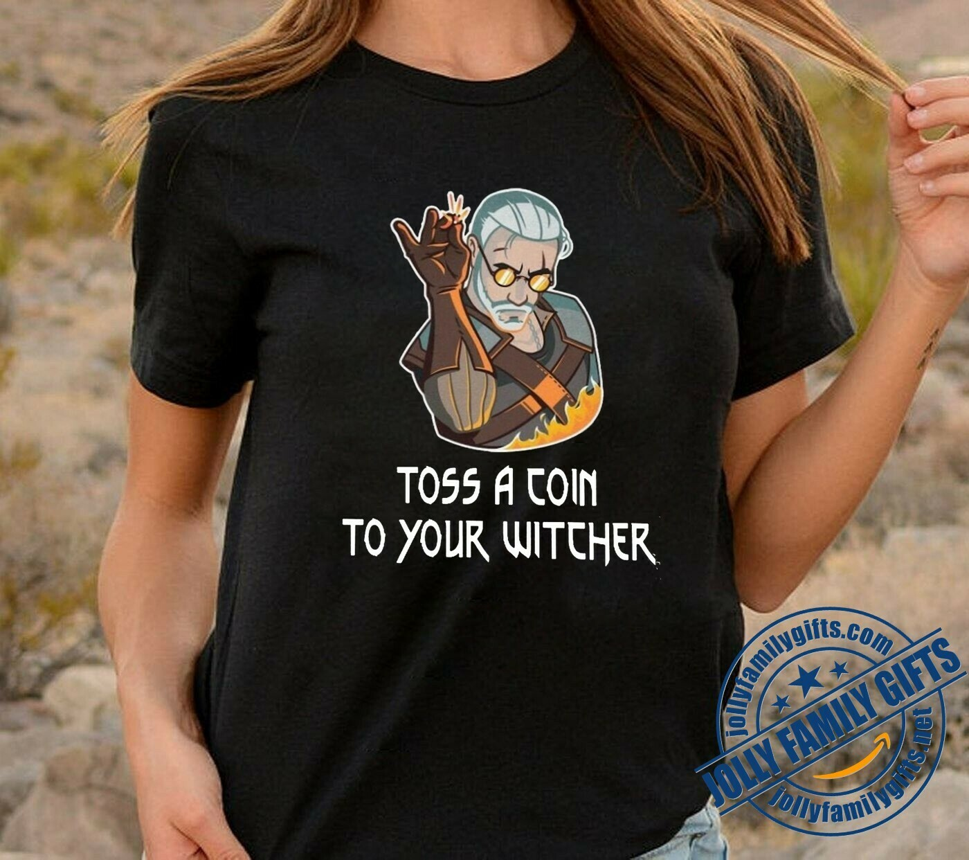 Witcher Geralt Toss a Coin to Your Witcher Funny,Witcher 3 Geralt Of Rivia With Medallion fan  Unisex T-Shirt Hoodie Sweatshirt Sweater for Ladies Women Men Kids Youth Gifts Tee Jolly Family Gifts
