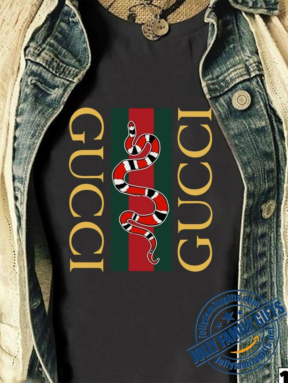 Snake Logo Gucci, Gucci Shirt, Gucci T-shirt, Gucci Logo, Gucci Fashion shirt, Fashion shirt, Gucci Design shirt, Snake Gucci vintage shirt Unisex T-Shirt Hoodie Sweatshirt Sweater for Ladies Women