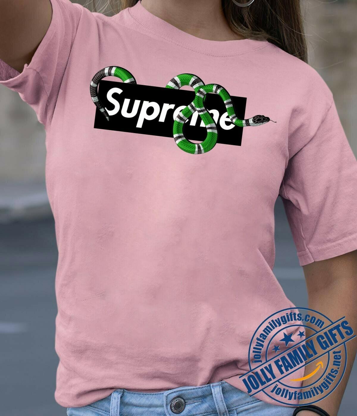 Classic Logo Snake Supreme Louis Vuitton Shirt LV T-shirt Louis Vuitton Fashion LV Fashion Shirts for Women Men Vintage  Unisex T-Shirt Hoodie Sweatshirt Sweater for Ladies Women Men Kids Youth Gifts