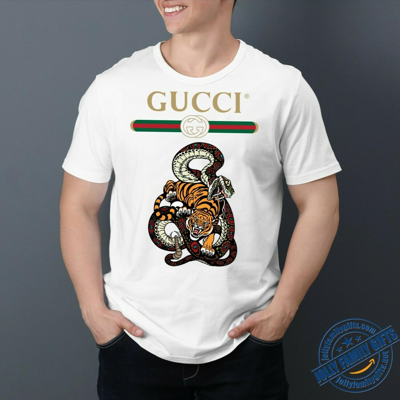 Snake Tiger Logo Gucci, Gucci Shirt, Gucci T-shirt, Gucci Logo, Gucci Fashion shirt, Fashion shirt, Gucci Design, Snake Gucci vintage shirt Unisex T-Shirt Hoodie Sweatshirt Sweater for Ladies Women