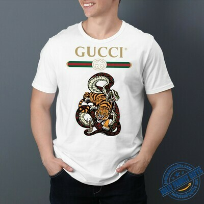 Snake Tiger Logo Gucci, Gucci Shirt, Gucci T-shirt, Gucci Logo, Gucci Fashion shirt, Fashion shirt, Gucci Design, Snake Gucci vintage shirt Unisex T-Shirt Hoodie Sweatshirt Sweater for Ladies Women