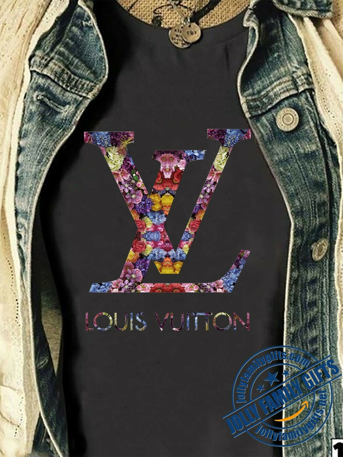 Classic Logo Louis Vuitton Flower Shirt LV T-shirt Louis Vuitton Logo Fashion LV Design Fashion for Women Men Vintage  Unisex T-Shirt Hoodie Sweatshirt Sweater for Ladies Women Men Kids Youth Gifts