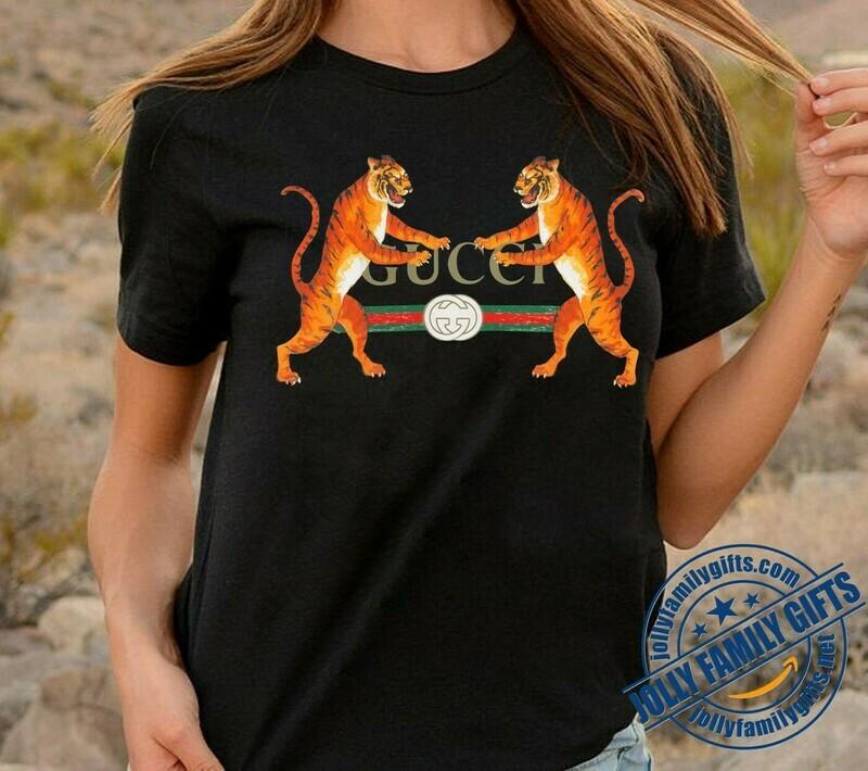 Classic Logo Tiger Gucci Chanel Shirt LV T-shirt Louis Vuitton Fashion LV Fashion for Women Men Vintage  Unisex T-Shirt Hoodie Sweatshirt Sweater for Ladies Women Men Kids Youth Gifts Tee Jolly Family