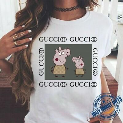 Peppa Pig,Logo Gucci,Gucci Shirt,Gucci T-shirt,Gucci Logo,Gucci Fashion shirt,Fashion shirt,Gucci Design shirt,Snake Gucci vintage shirt Unisex T-Shirt Hoodie Sweatshirt Sweater for Ladies Women Men