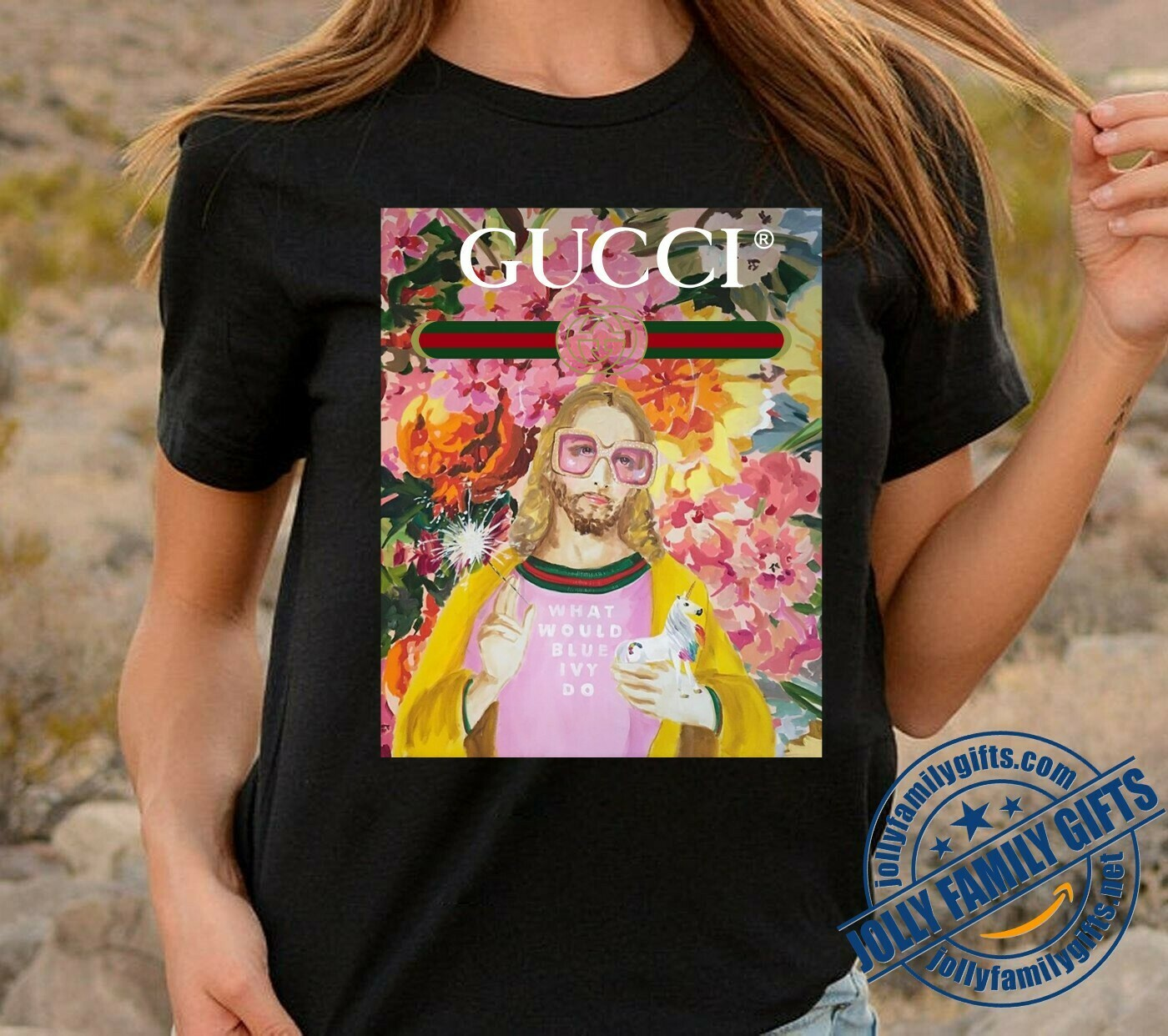 Gucci Jesus what would Blue Ivy Do Jesus Saint Keanu Reeves Nicolas Cage As Jesus I'll Be Back Jesus Funny Church Jesus Christ God  Unisex T-Shirt Hoodie Sweatshirt Sweater for Ladies Women Men Kids