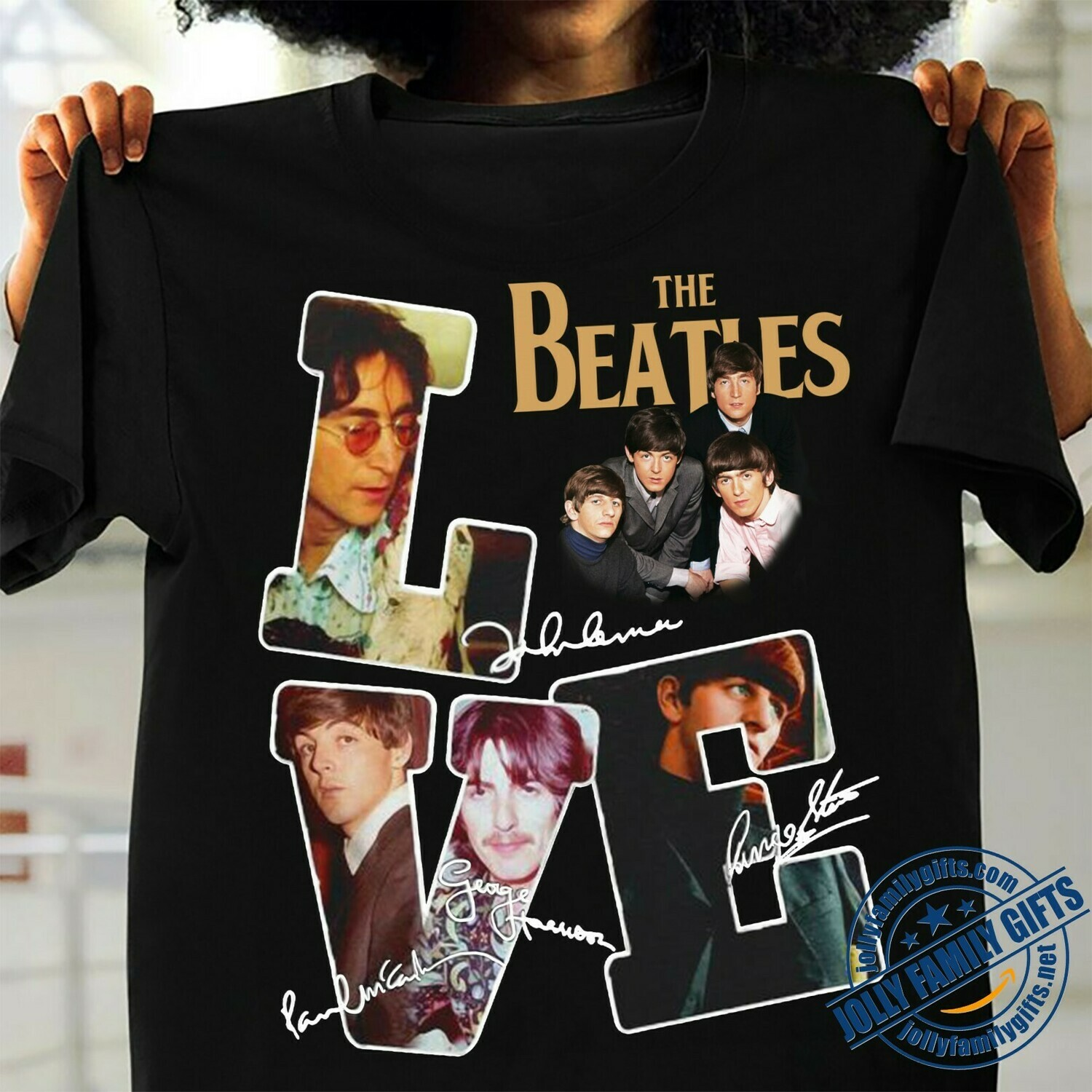 The Beatles 60th anniversary Love Classic Rock Band Legend the memories Signature  Unisex T-Shirt Hoodie Sweatshirt Sweater Plus Size for Ladies Women Men Kids Youth Gifts Tee Jolly Family Gifts