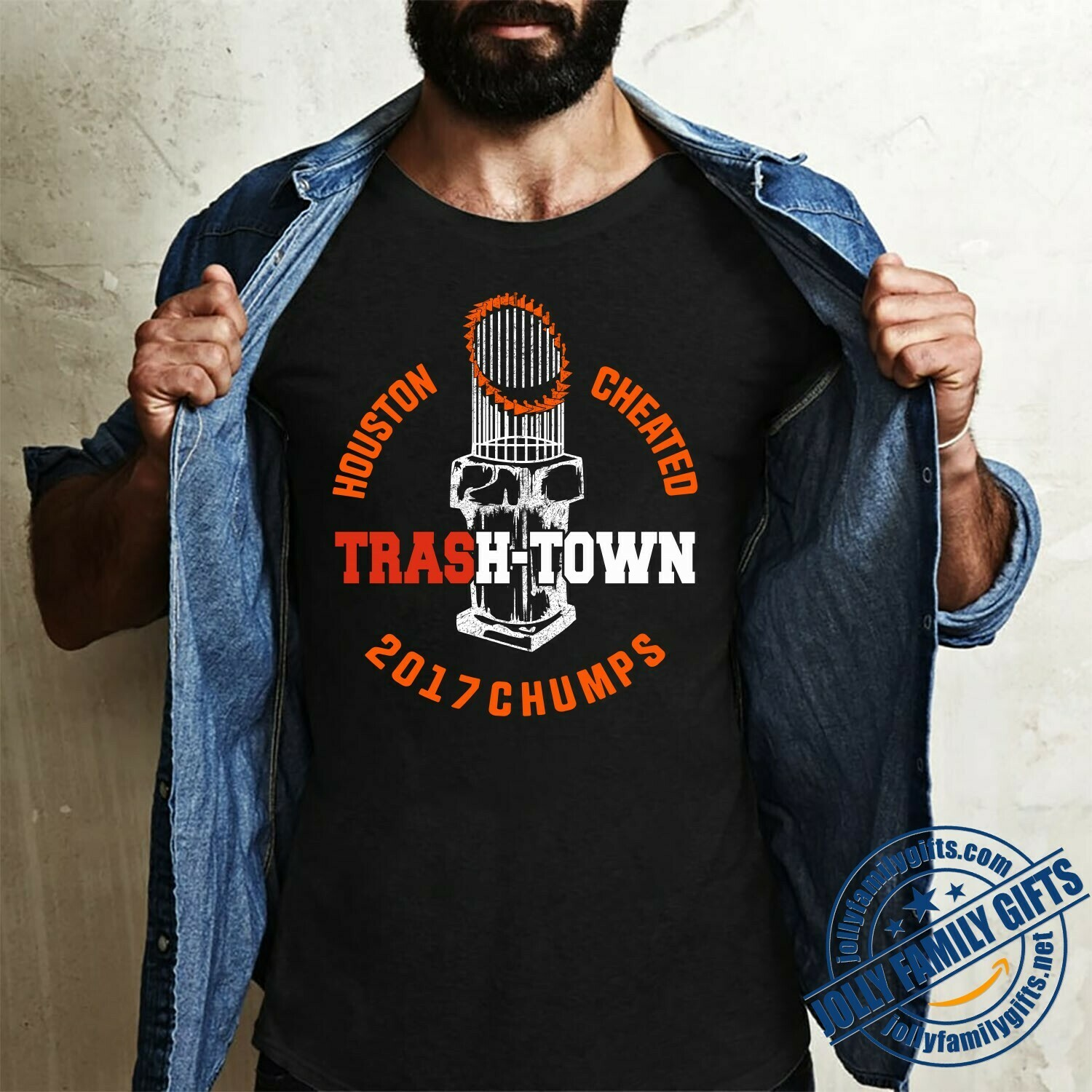 Houston Astros Cheated Trash-Town 2017 Chumps MLB Baseball stealing signs Cheating scandal for Men Women Unisex T-Shirt Hoodie Sweatshirt Sweater Plus Size for Ladies Women Men Kids Youth Gifts Tee
