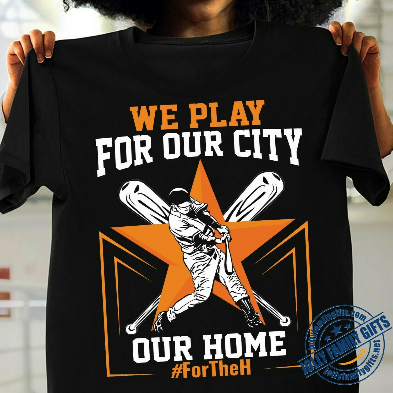 "We play for our city our Home Houston Astros' ""For The H"" Pummels Posers In MLB Slogan Rollout  Unisex T-Shirt Hoodie Sweatshirt Sweater Plus Size for Ladies Women Men Kids Youth Gifts Tee Jolly"