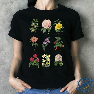 Vintage Botanical Floral Flower Pretty Nature Earth for Men Women A Botanist Unisex T-Shirt Hoodie Sweatshirt Sweater Plus Size for Ladies Women Men Kids Youth Gifts Tee Jolly Family Gifts