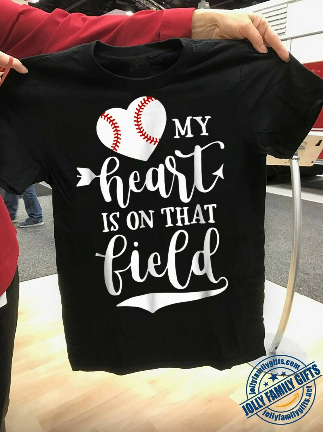 My Heart is on That Field Baseball Softball for softball lovers Player Men Women Unisex T-Shirt Hoodie Sweatshirt Sweater Plus Size for Ladies Women Men Kids Youth Gifts Tee Jolly Family Gifts
