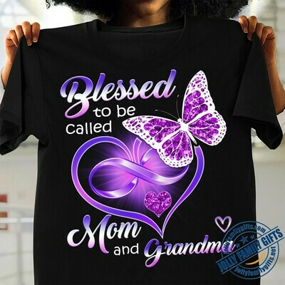Blessed to be called Mom and Grandma Cute Strong Professional for Mom Mommy Grandmother Mother Unisex T-Shirt Hoodie Sweatshirt Sweater Plus Size for Ladies Women Men Kids Youth Gifts Tee Jolly Family