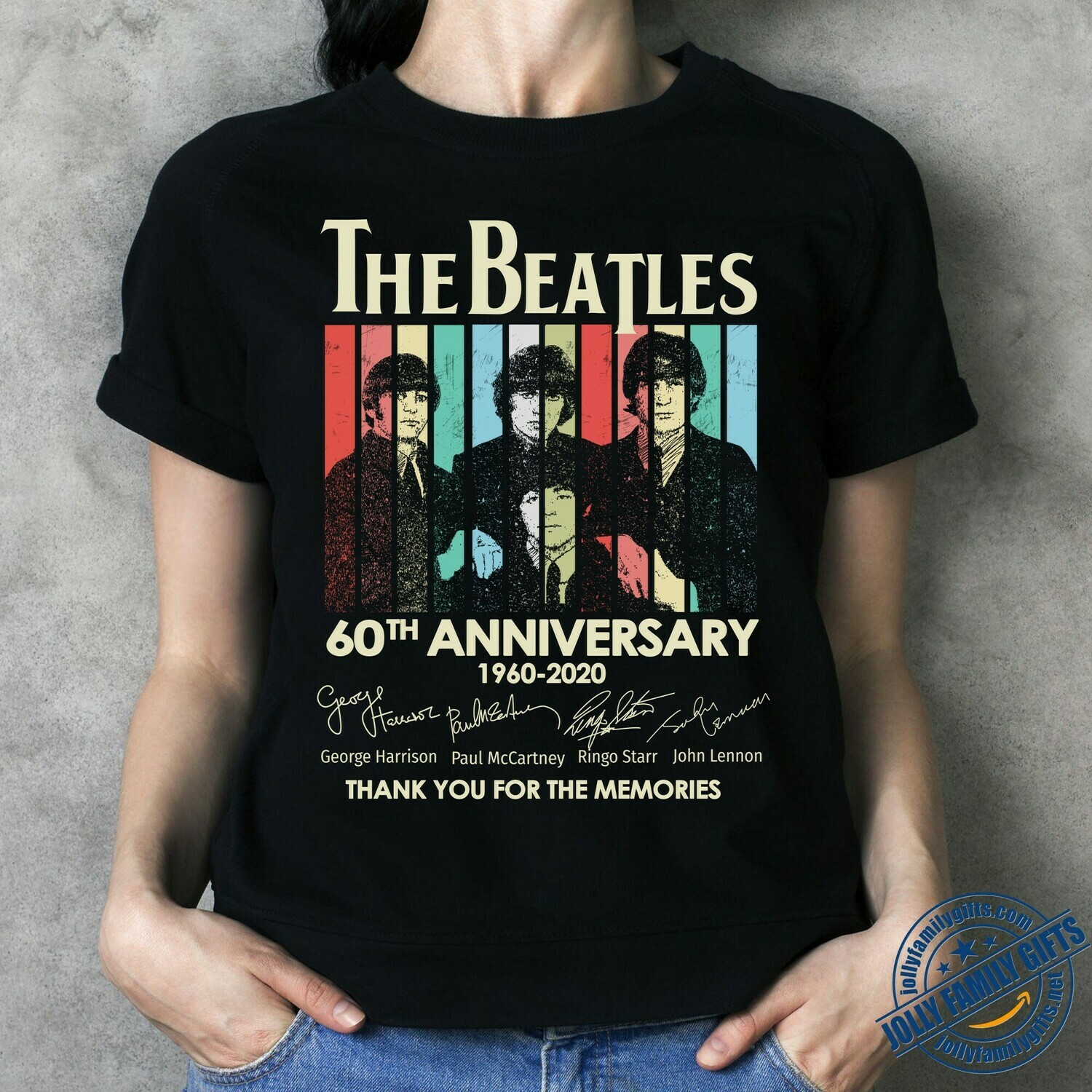 The beatles 60th anniversary 1960 - 2020 thank you for the memories signal Classic Rock Band Legend Fan  Unisex T-Shirt Hoodie Sweatshirt Sweater Plus Size for Ladies Women Men Kids Youth Gifts Tee