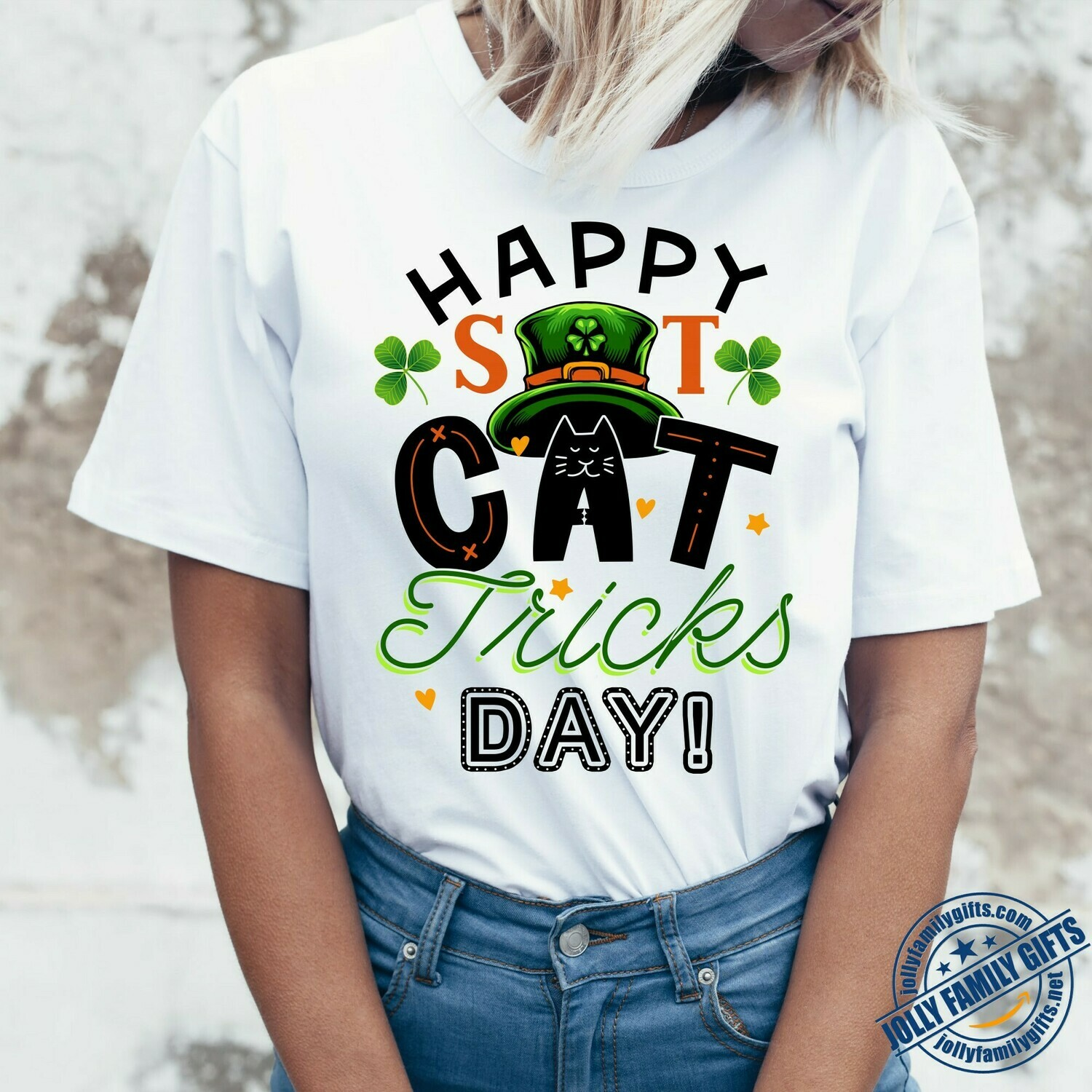 Happy St. Catricks Day My Cat Is My Lucky Charm Happy Patrick's Day Cats Caticorn Leprechaun Paddy's Day  Unisex T-Shirt Hoodie Sweatshirt Sweater Plus Size for Ladies Women Men Kids Youth Gifts Tee