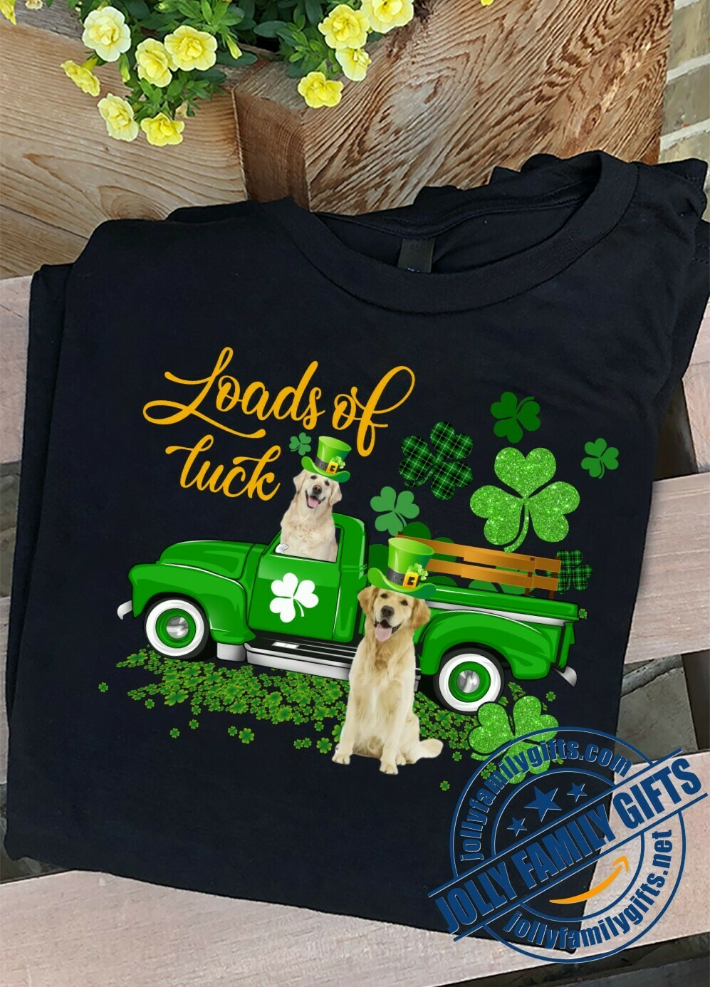 Loads Of Luck Truck Bullmastiff Irish Dog Leprechaun St Patricks Day Gift Idea for Men Women Unisex T-Shirt Hoodie Sweatshirt Sweater Plus Size for Ladies Women Men Kids Youth Gifts Tee Jolly Family