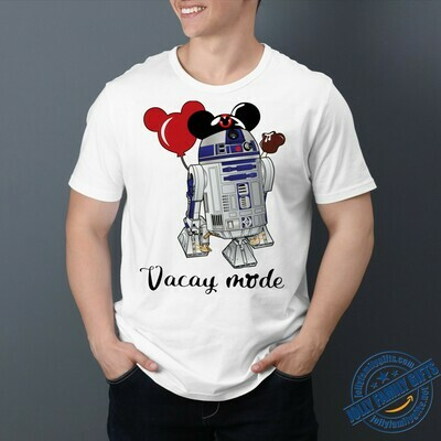 R2D2 Mickey Ears Vacay Mode Star Wars Disney Movie Storm Trooper BB8 Princess Walt Disney Vacation Family Go to Disney World  Unisex T-Shirt Hoodie Sweatshirt Sweater Plus Size for Ladies Women Men