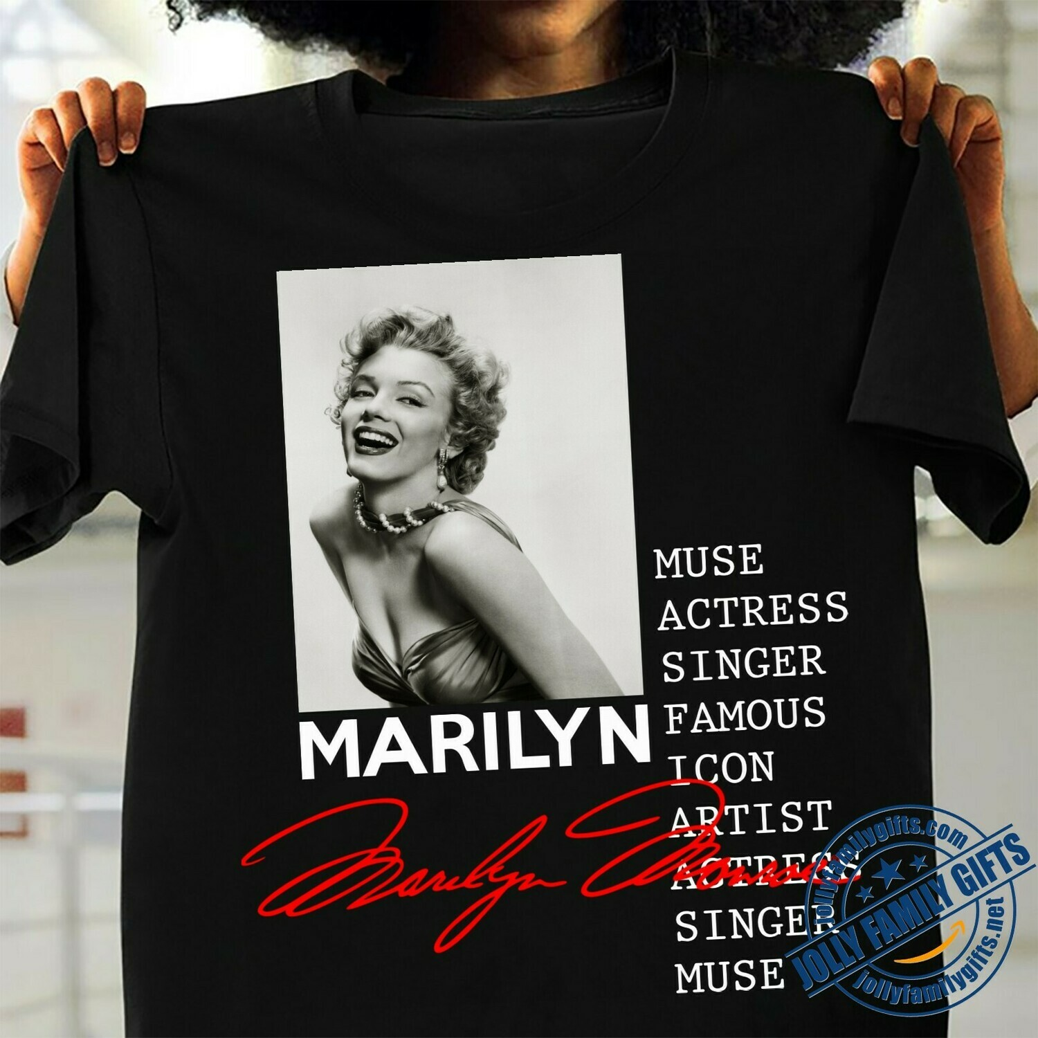 Marilyn Monroe Hollywood Star Cultural icon Actress Model Sex Symbol Norma Jeane Lips Wink Graphic  Unisex T-Shirt Hoodie Sweatshirt Sweater Plus Size for Ladies Women Men Kids Youth Gifts Tee Jolly