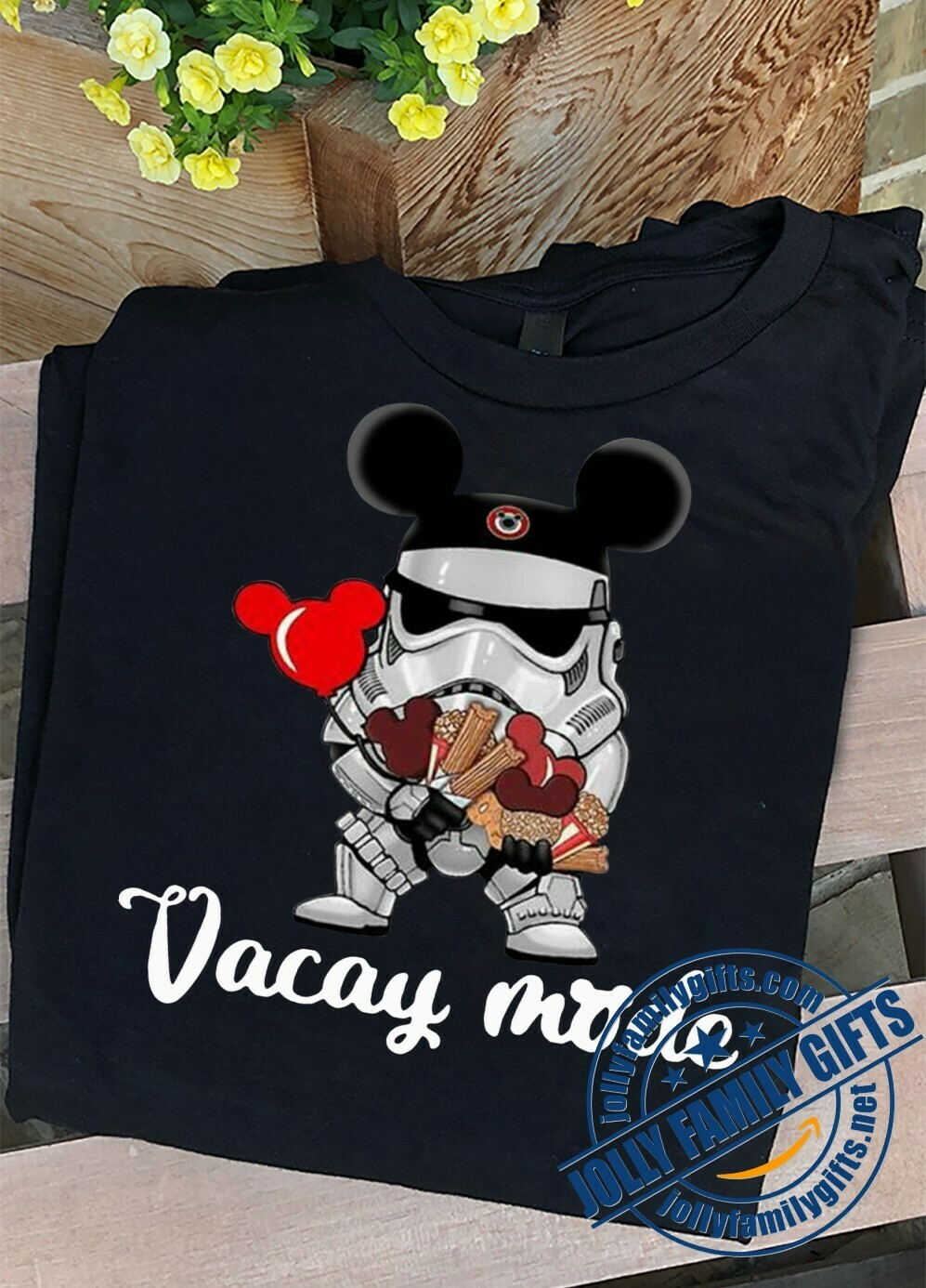 Stormtrooper Soldier Vacay Mode Disney Mickey Mouse Ears Star Wars The Force Awakens Walt Disney Family Vacation Go to Disney World  Unisex T-Shirt Hoodie Sweatshirt Sweater Plus Size for Ladies Women