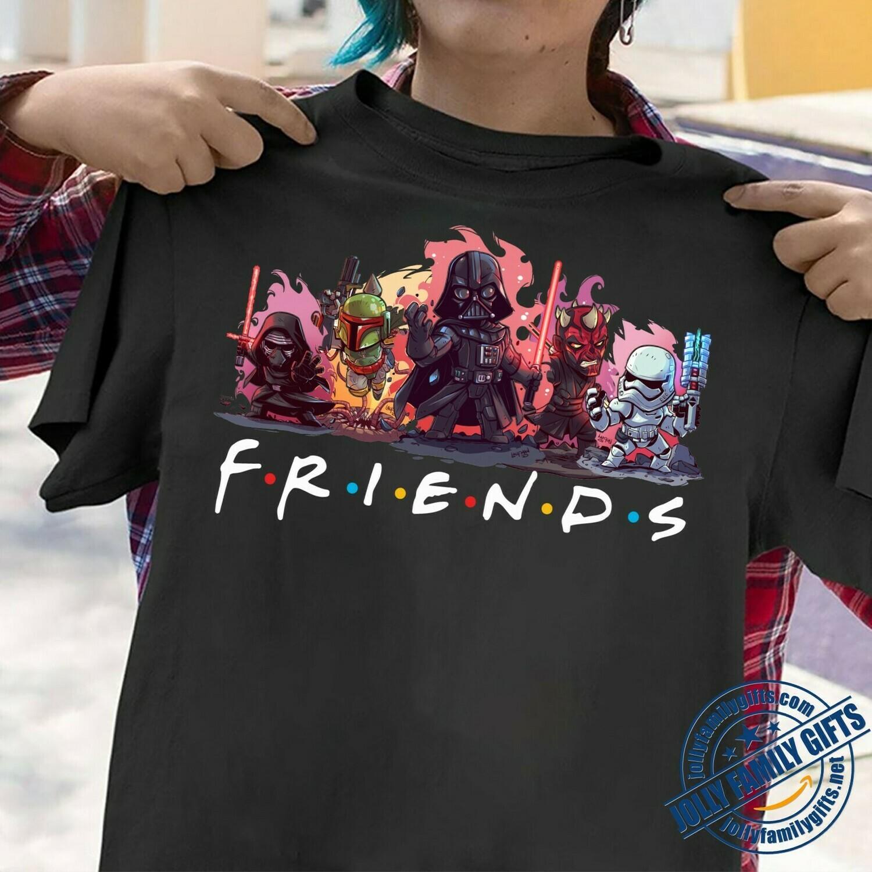 Friends Star Wars Anakin Skywalker Aka Darth Vader Sith Lord Stormtrooper Soldier Family Vacation Fan Gift for Women Men  Unisex T-Shirt Hoodie Sweatshirt Sweater Plus Size for Ladies Women Men Kids