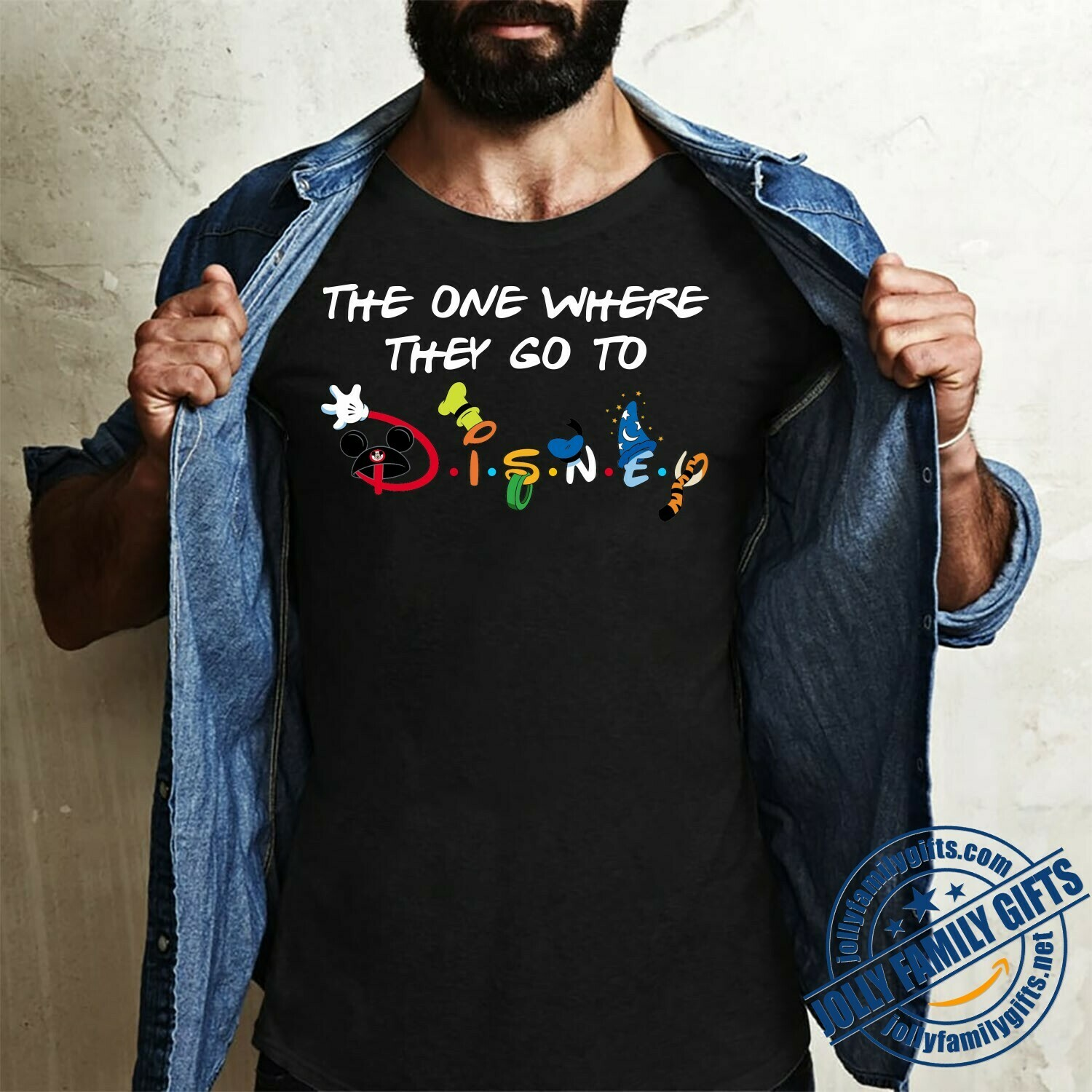 The one where they go to Disney Friends Inspired Disney World Family Trip Group Matching Friends  Unisex T-Shirt Hoodie Sweatshirt Sweater Plus Size for Ladies Women Men Kids Youth Gifts Tee Jolly