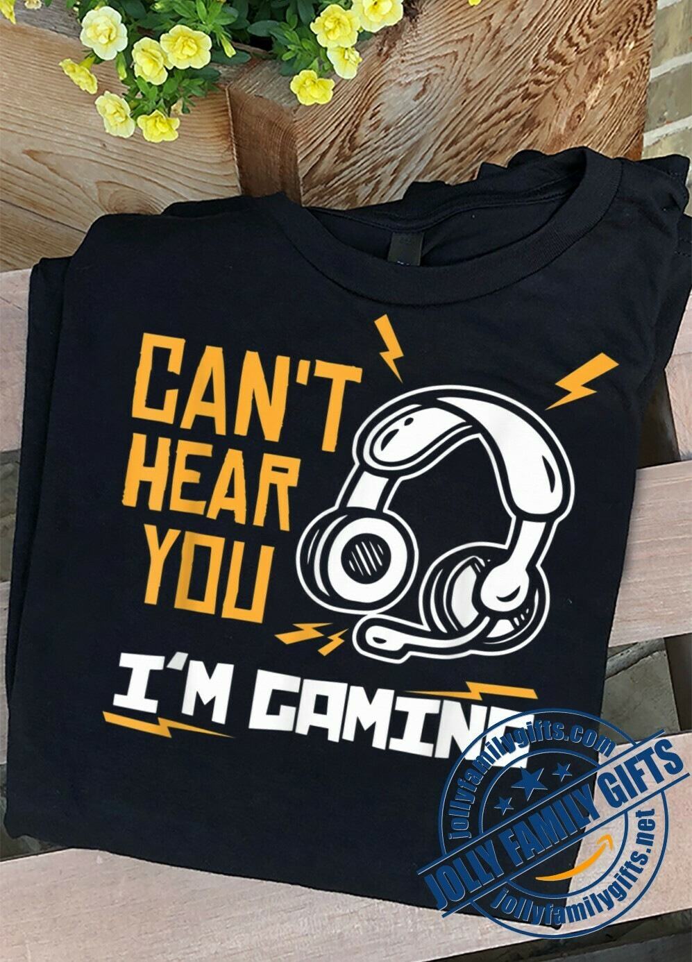 Can't hear you I'm Gaming Headphone Funny Gaming Gamer Video Games Gift for Dad Mom Game lovers Unisex T-Shirt Hoodie Sweatshirt Sweater Plus Size for Ladies Women Men Kids Youth Gifts Tee Jolly