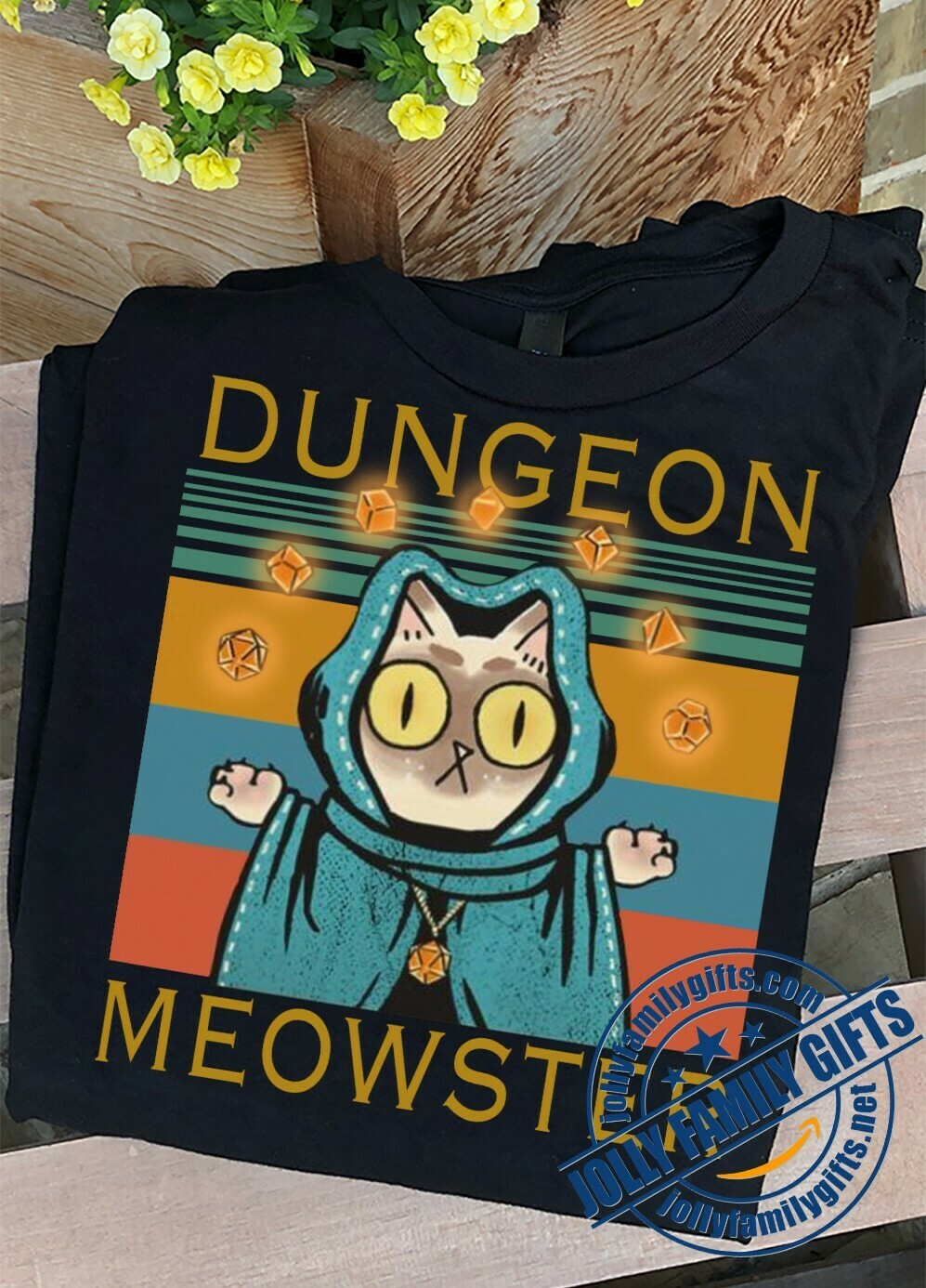 Dungeon Meowster Tabletop RPG Geek Roleplay Game for Men Women Cat Game Lover Unisex T-Shirt Hoodie Sweatshirt Sweater Plus Size for Ladies Women Men Kids Youth Gifts Tee Jolly Family Gifts