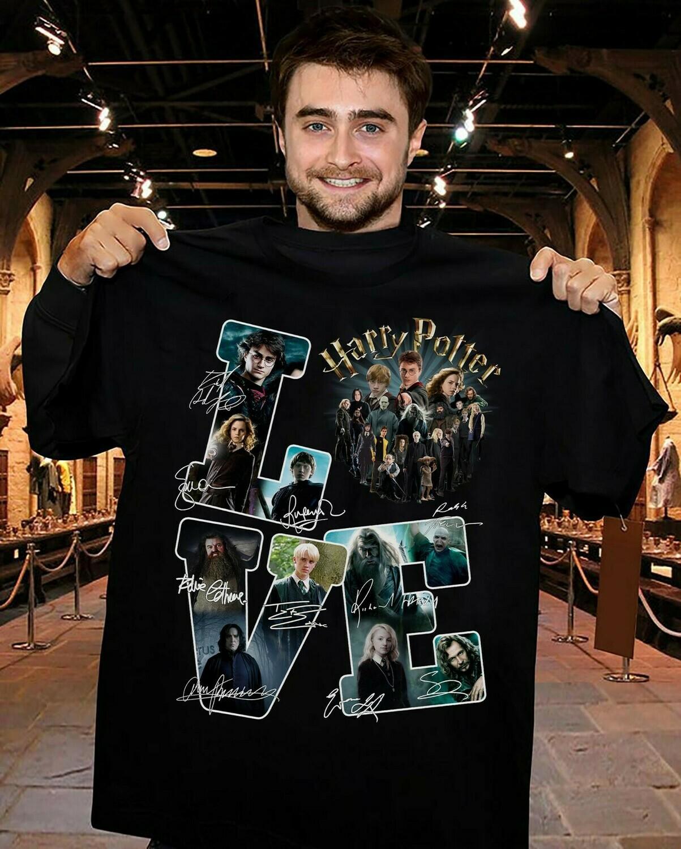 Love Harry Potter Patronus Friends Daniel Radcliffe Emma Watson Hermione Hogwarts Castle Family Vacation Movie Fans  Unisex T-Shirt Hoodie Sweatshirt Sweater Plus Size for Ladies Women Men Kids Youth