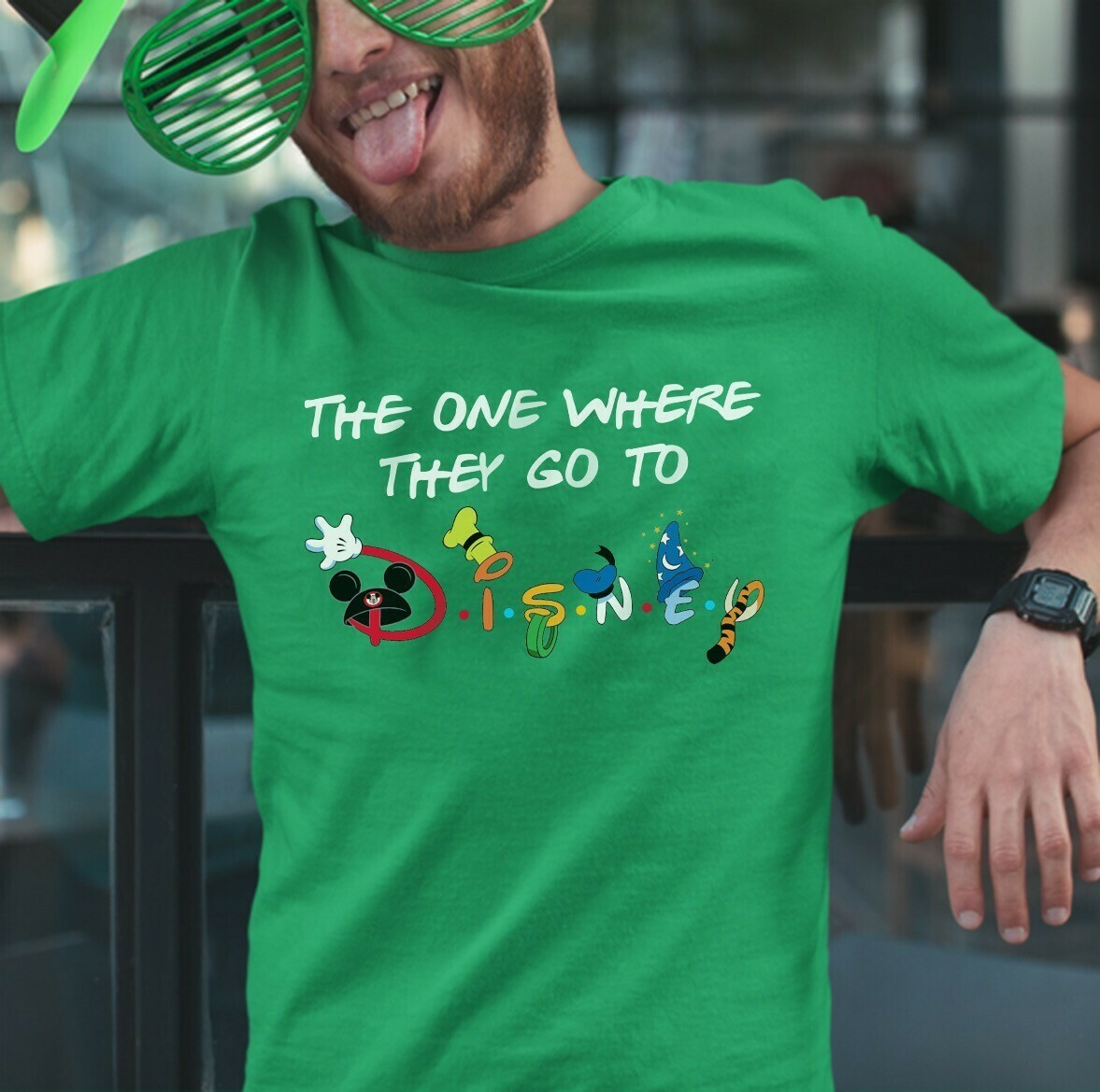 The one where they go to Disney Happy St. Patrick's Day Friends Inspired Disney World Family Trip Group Matching Friends  Unisex T-Shirt Hoodie Sweatshirt Sweater Plus Size for Ladies Women Men Kids