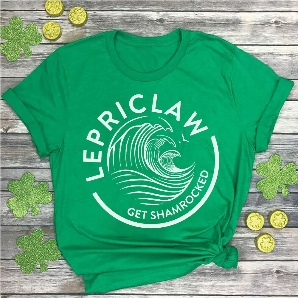 Funny Drinking Claws Lepriclaw Get Shamrocked Shamrock Patrick's Day  Unisex T-Shirt Hoodie Sweatshirt Sweater Plus Size for Ladies Women Men Kids Youth Gifts Tee Jolly Family Gifts