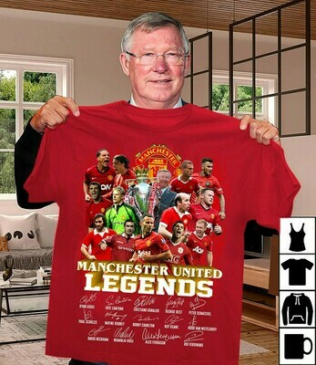MU FC Manchester United Legends 1878-2020 Thank you for the memories Team Players Signatures  Unisex T-Shirt Hoodie Sweatshirt Sweater Plus Size for Ladies Women Men Kids Youth Gifts Tee Jolly Family
