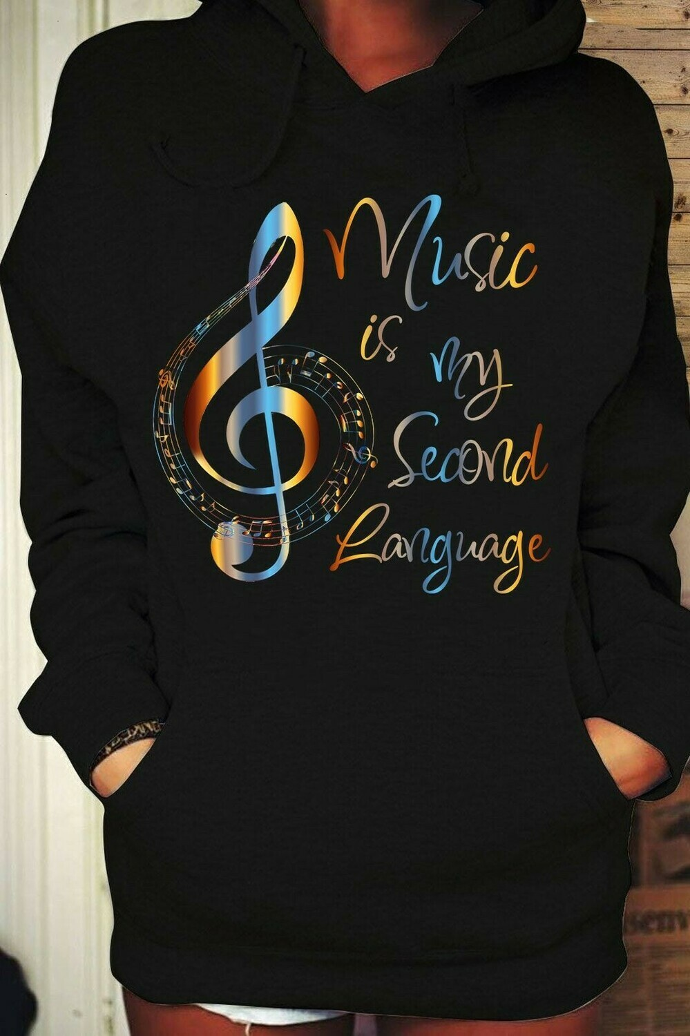 Music is my Second language Graphic T-shirt for men women Music Lover Musician Unisex T-Shirt Hoodie Sweatshirt Sweater Plus Size for Ladies Women Men Kids Youth Gifts Tee Jolly Family Gifts