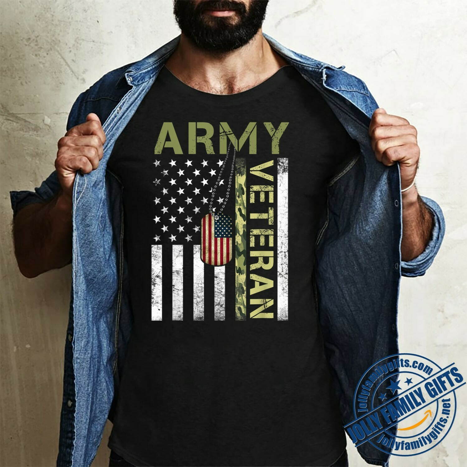 American Flag Camo Proud US United States Military Army Veteran  Unisex T-Shirt Hoodie Sweatshirt Sweater Plus Size for Ladies Women Men Kids Youth Gifts Tee Jolly Family Gifts