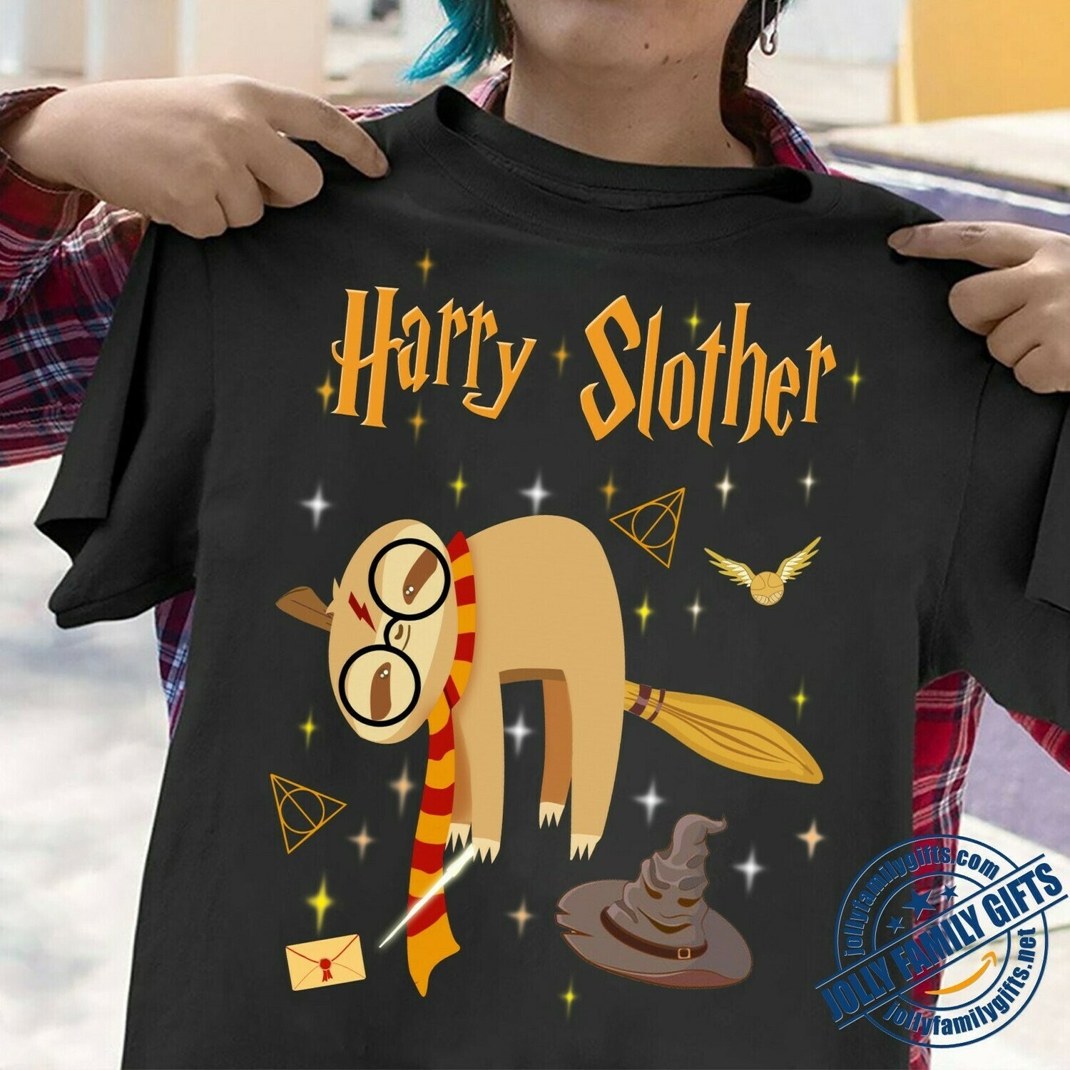 Harry Slother Funny Sloth Harry Potter Magical Wizard Potter TShirt for Shirt for s Men Women Graphic Unisex T-Shirt Hoodie Sweatshirt Sweater Plus Size for Ladies Women Men Kids Youth Gifts Tee Jolly