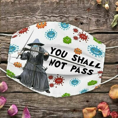 You shall not pass The Lord of the Rings 3 Layer Face Mask,Adult Kid FaceMask,Washable Reusable Face Mask,FAST Shipping Made in USA