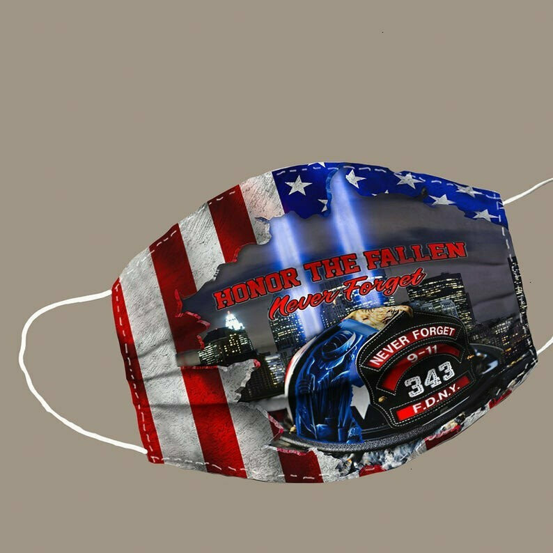 Firefighter American Flag Honor the Fallen never forget FDNY Face Mask,Cover Face Mask,Handmade face Mask,Face Mask pocket