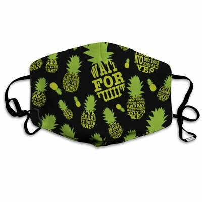 Pineapple Face Mask Psych Pineapple Quotes Mask Washable Cotton Face Mask