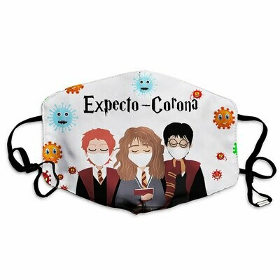 Expecto Corona Face Mask, Harry Potter Cotton Cloth Face Mask, Washable Reusable Face Mask